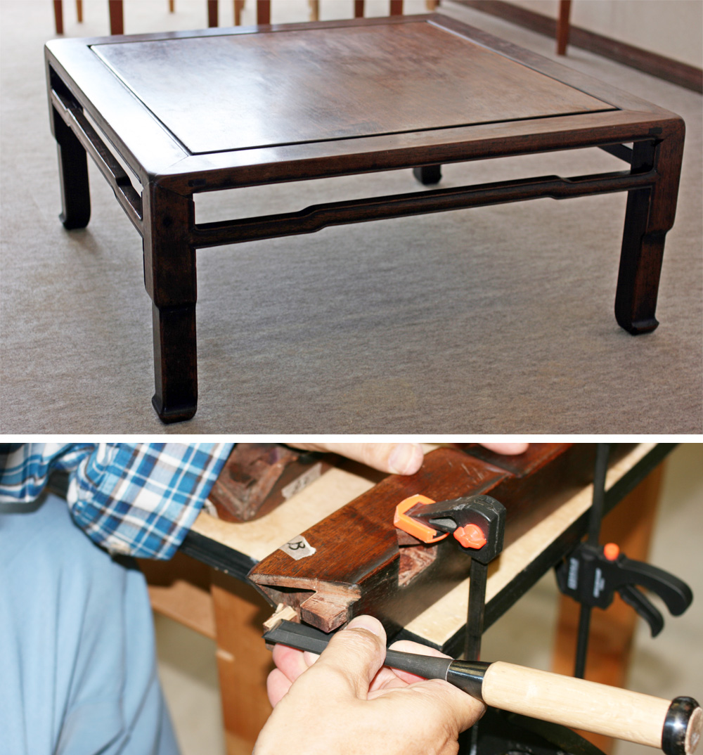 Japanese Style Antique Table Repair