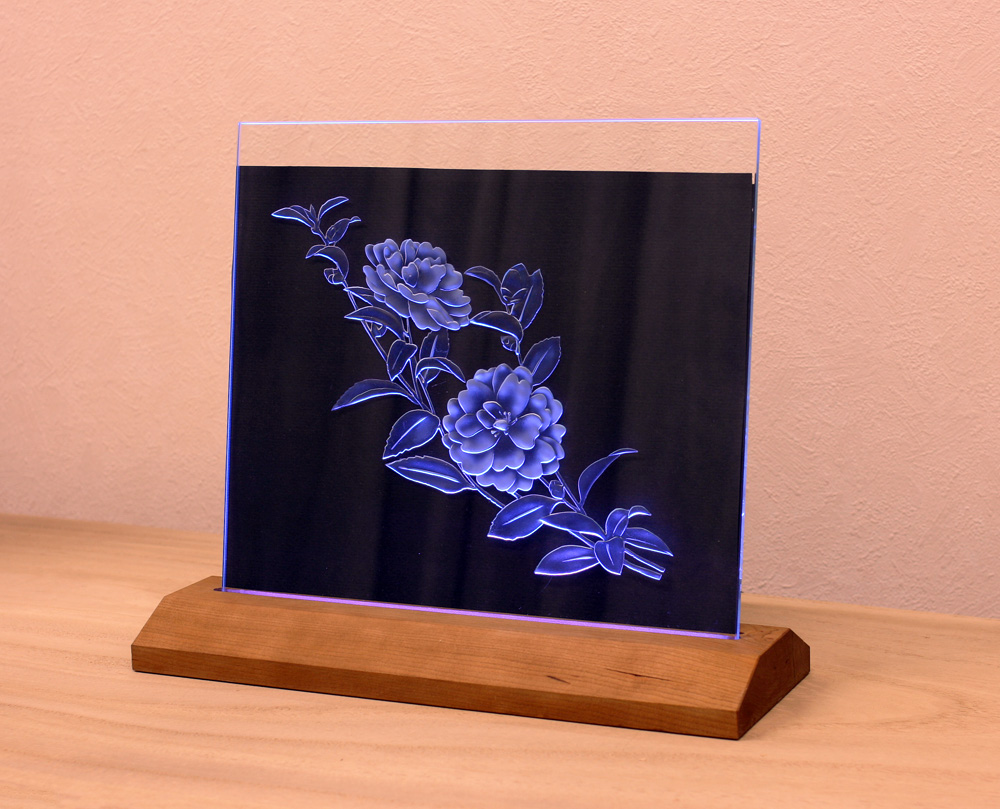 Etched Glass Stand